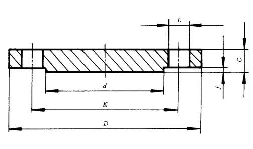 [HG20601]PN10.0MPa盲板法兰标准尺寸图