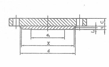 [HG20602]PN1.0MPa不锈钢衬里法兰盖标准