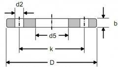 DIN2502 PN16德标平板法兰标准尺寸