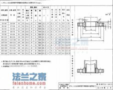 SHT501 PN5.0凸面带颈平焊夹套管法兰结构和尺寸
