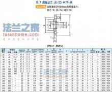 JB/ZQ4477-86焊接法兰标准