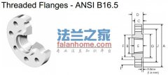 ANSI B16.5 TH 300LB美标螺纹法兰