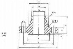 [HG20617]PN2.0MPa(cl150)带颈对焊钢制管法兰